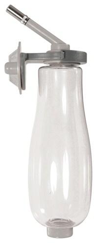 Zolux neo drinkfles van bovenaf te vullen grijs (500 ML)
