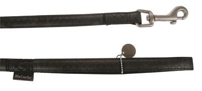Macleather looplijn zwart (15 MMX120 CM)