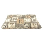 Woefwoef hondenkussen lounge luxe new york taupe (115X75X10 CM)