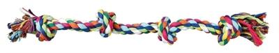 Trixie flostouw 4-knoop multicolor assorti (54 CM)