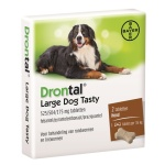 Bayer drontal ontworming hond l tasty (2 TABLETTEN)