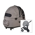 Airbuggy hondenbuggy dome2 sm met rem earth bruin (53X31X52 CM / 96X53,5X99 CM)
