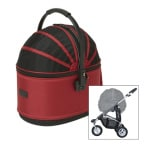 Airbuggy hondenbuggy cot s plus rood (96X58X99 CM)