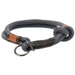 Trixie halsband hond be nordic slip halsband donkergrijs / bruin (50X1,3 CM)
