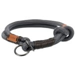 Trixie halsband hond be nordic slip halsband donkergrijs / bruin (55X1,3 CM)