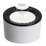 Trixie drinkfontein triple flow zwart / wit (2 LTR)