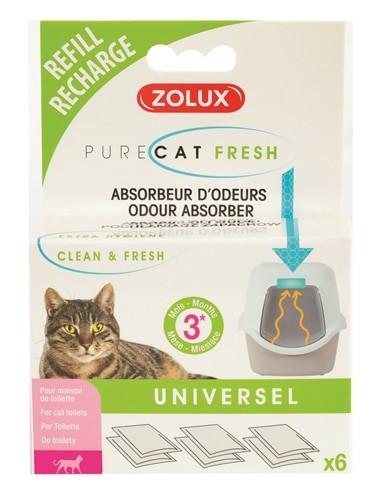 Zolux clean & fresh universeel filter kattenbak (6 ST)