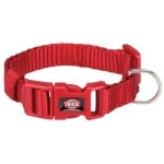 Trixie halsband hond premium rood (25-40X1,5 CM)