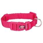 Trixie halsband hond premium fuchsia (25-40X1,5 CM)