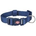 Trixie halsband hond premium indigo blauw (25-40X1,5 CM)