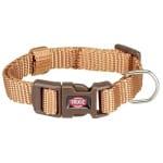 Trixie halsband hond premium karamel beige (25-40X1,5 CM)