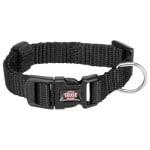 Trixie halsband hond premium zwart (35-55X2 CM)
