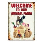 Plenty gifts waakbord blik farm welcome (15X21 CM)