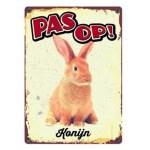 Plenty gifts waakbord blik konijn (15X21 CM)
