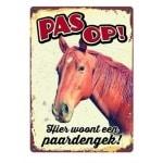 Plenty gifts waakbord blik paard (15X21 CM)
