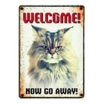 Plenty gifts waakbord blik grumpy cat (15X21 CM)