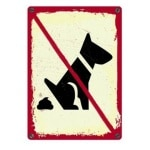 Plenty gifts waakbord blik no dogs (15X21 CM)
