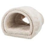 Trixie speeltunnel konijn / cavia pluche beige (80X27X21 CM)