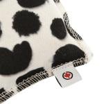 Canadian cat speelkussen punkte met catnip zwart / wit (10X7,5X1 CM)