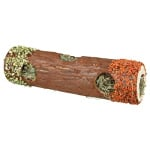 Trixie tunnelbuis met hooi en hibiscusbloesem / wortel / erwt (30X9X9 CM 35 GR)