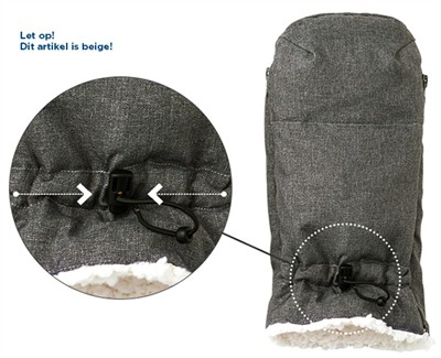 Airbuggy handwarmer earth sand beige (35X32X4CM)