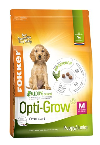 Fokker opti-grow puppy / junior medium (13 KG)