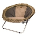 Croci hondenstoel deckchair bont bruin (68X68X42 CM)