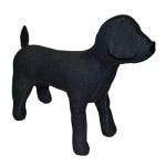 Croci paspop hond zwart (34X25 CM)