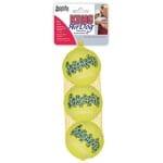 Kong squeakair tennisbal geel met piep (MEDIUM 6,5 CM 3 ST)