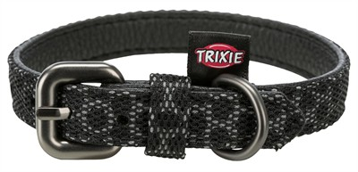 Trixie halsband hond night reflect zwart (38-47X2,5 CM)