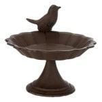 Trixie vogelbad op voet gietijzer bruin (16X16 CM)