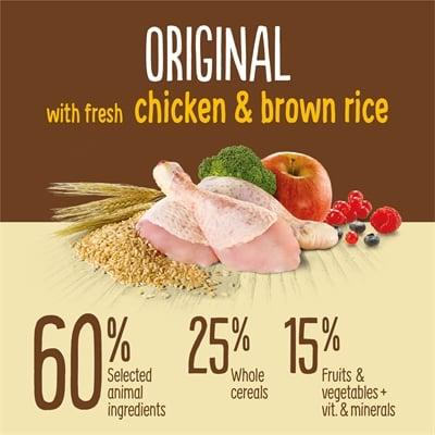 True instinct original medium junior chicken (600 GR)