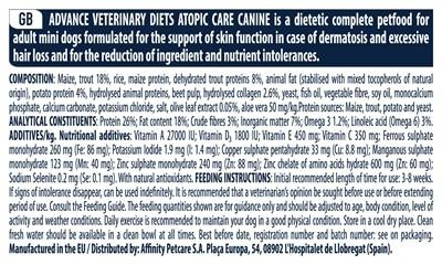 Advance veterinary atopic mini (1,5 KG)