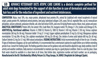Advance veterinary atopic mini