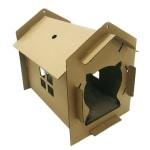 Croci kattenhuis villa karton bruin (42X35X50 CM)