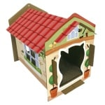 Croci kattenhuis villa print karton (42X35X50 CM)