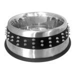 Croci voerbak staal studs rubber (20,5 CM 850 ML)