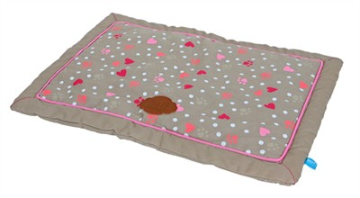 Lief! benchkussen girls beige / roze (75X47 CM)