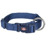 Trixie premium halsband hond indigo (30-45X1,5 CM)