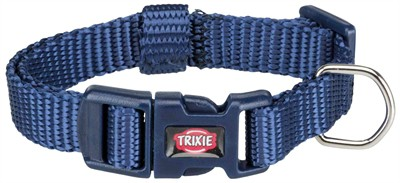 Trixie premium halsband hond indigo (15-25X1 CM)