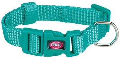Trixie premium halsband hond oceaan blauw (15-25X1 CM)