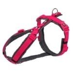 Trixie hondentuig premium trekking fuchsia / grijs (70-85X2,5 CM)