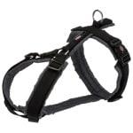 Trixie hondentuig premium trekking zwart / grijs (70-85X2,5 CM)