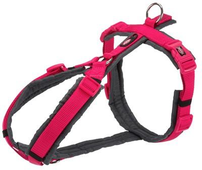 Trixie hondentuig premium trekking fuchsia / grijs (62-74X2,5 CM)