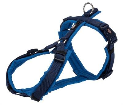 Trixie hondentuig premium trekking indigo / royal blauw (62-74X2,5 CM)