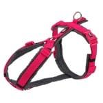 Trixie hondentuig premium trekking fuchsia / grijs (44-53X2 CM)