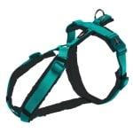 Trixie hondentuig premium trekking aqua blauw / grijs (44-53X2 CM)