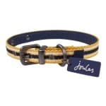Joules halsband hond coastal navy / geel (45,5-56X3,8 CM)