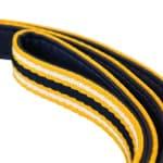 Joules hondenriem coastal navy / geel (100X2 CM)