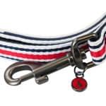 Joules hondenriem coastal gestreept rood (100X2 CM)